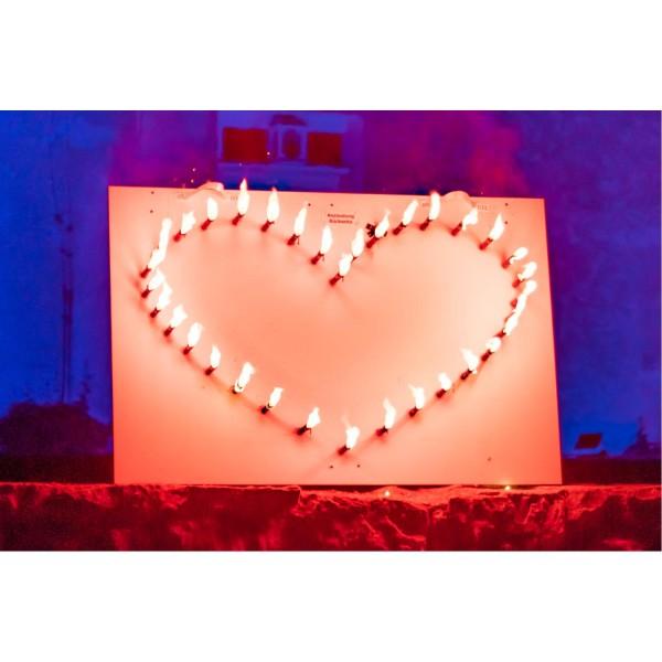 Lichterbild Großes Herz