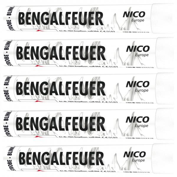 Feuerwerk hannover - NICO Bengalfeuer Weiß Blinkend 5er Pack