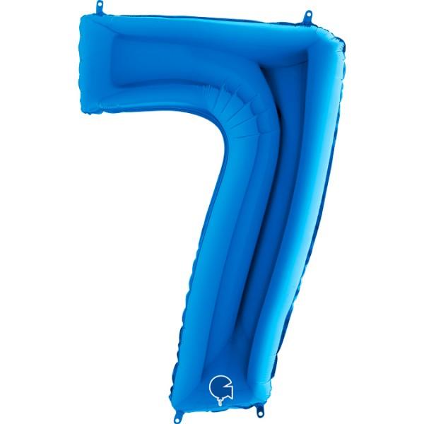 Ballons Hannover - Blauer Zahlenballon