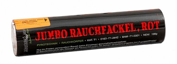 Feuerwerk Hannover - Blackboxx Jumbo Rauchfackel Rot