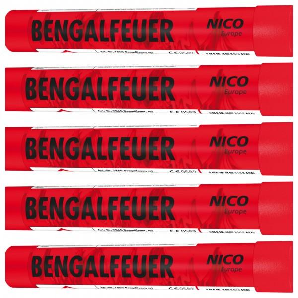 Feuerwerk Hannover - NICO Bengalfeuer Rot 5er Pack