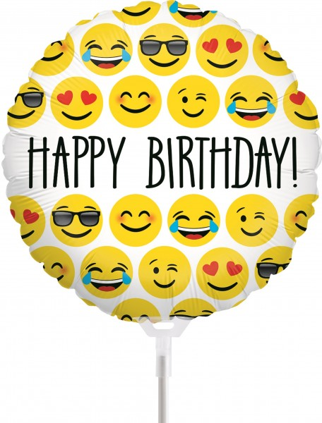 Ballons Hannover - Emojis Happy Birthday