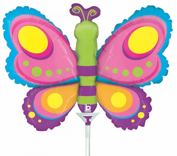Ballons Hannover - Schmetterling Folienballon mit Stab