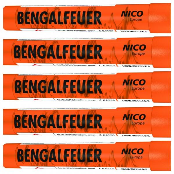 Feuerwerk Hannover - NICO Bengalfeuer Orange 5er Pack