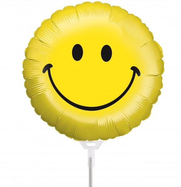 Ballons Hannover - Smiley Folienballon mit Stab