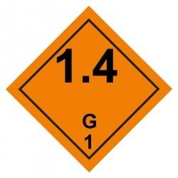 1.4G Gefahrgutaufkleber