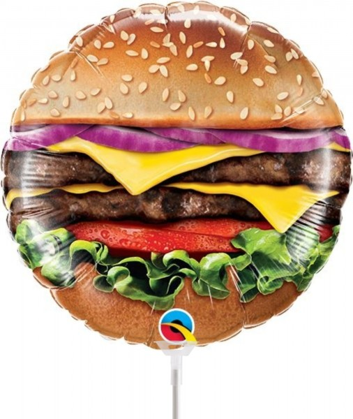 Ballons Hannover - Cheeseburger Folienballon mit Stab