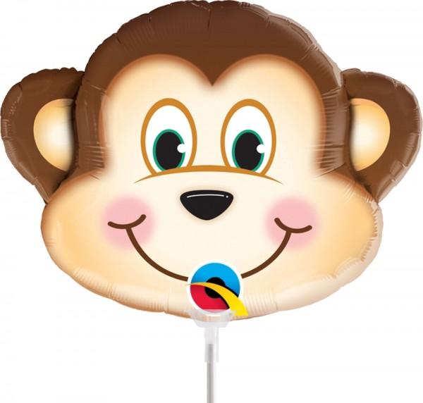 Ballons Hannover - Freches Äffchen Folienballon mit Stab