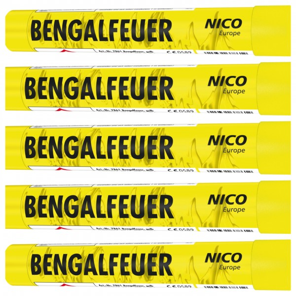 NICO Bengalfeuer Gelb 5er Pack