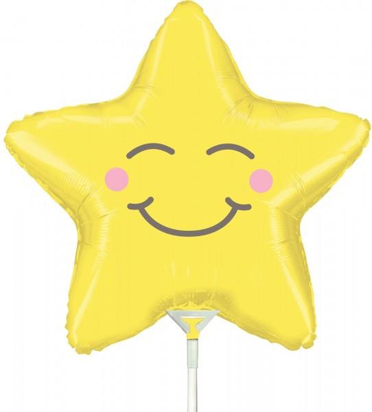 Ballons Hannover - Smiley Sar Folienballon mit Stab