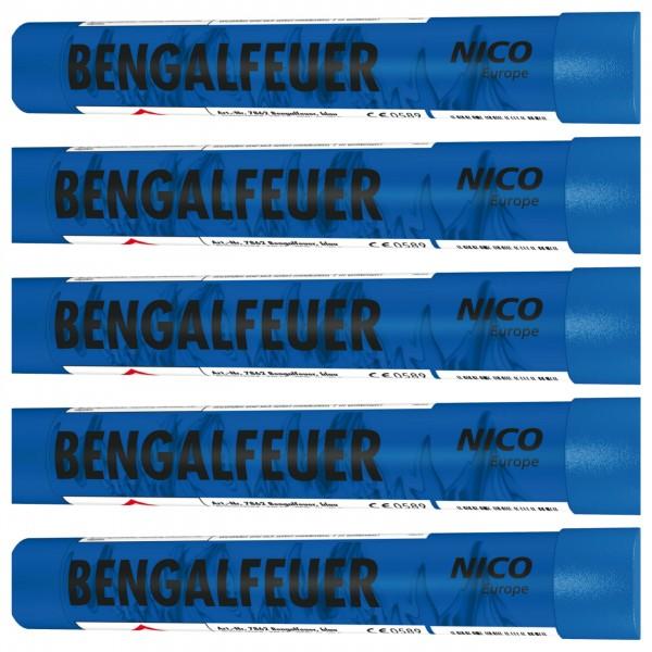 Feuerwerk Hannover - NICO Bengalfeuer Blau 5er Pack