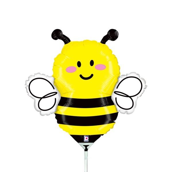 Ballons Hannover - Kleine Biene Folienballon mit Stab