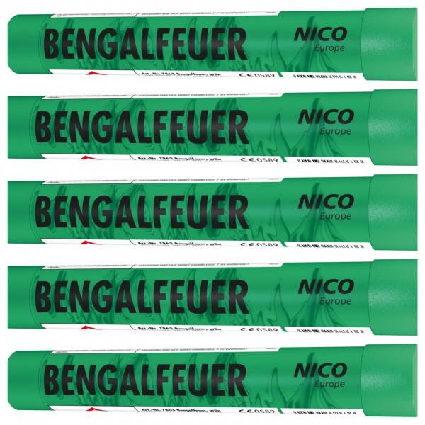 Feuerwerk Hannover - NICO Bengalfeuer Grün 5er Pack