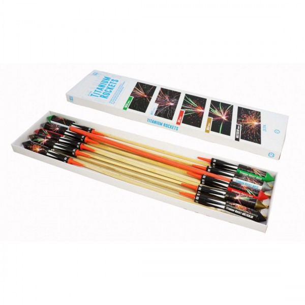 Argento Feuerwerk - Titanium Rockets